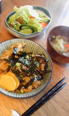 玄米穴子飯