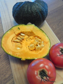 かぼちゃ&トマトのカレー